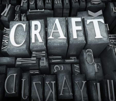 The word craft in print letter cases Stock Photo - 5134161