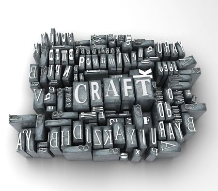The word craft in print letter cases photo