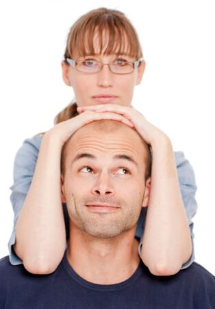 Young woman leaning on a young man Stock Photo - 5474493