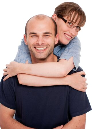 Portrait of a couple happy and in love Stock Photo - 5485767