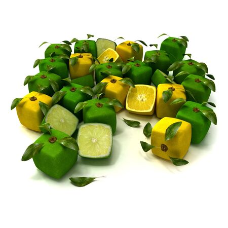Cubic lemons and limes composition Stock Photo - 5527975