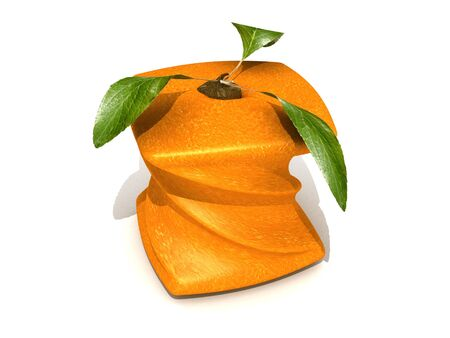 unnatural: 3D rendering of a twisted cubic orange