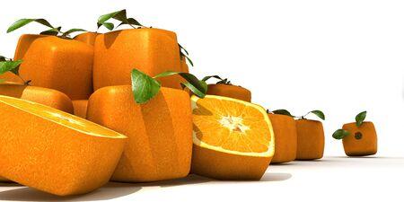 estrange: composition with Piles of cubic oranges