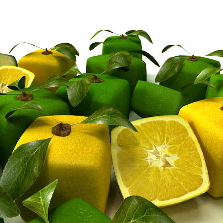 Cubic lemons and limes composition Stock Photo - 5547000