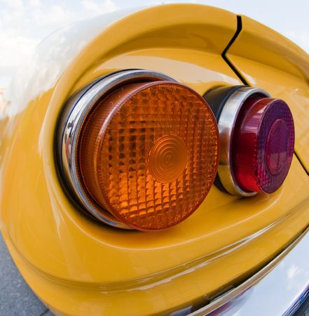 taillight: Vintage car's taillight