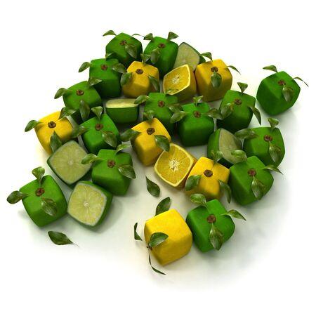 estrange: Cubic lemons and limes composition