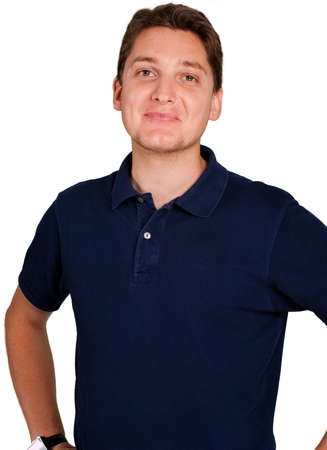 Friendly smiling young man Stock Photo - 5653202