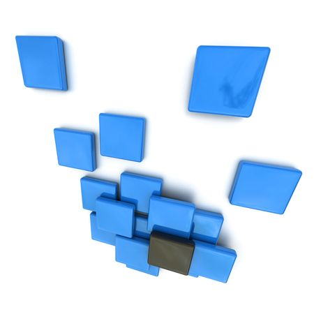 3D rendering of  blue and black shapes Stock Photo - 5999412