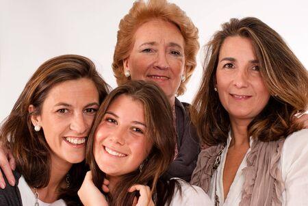 kobiet:  Izolowane wizerunku kobiet czterech r