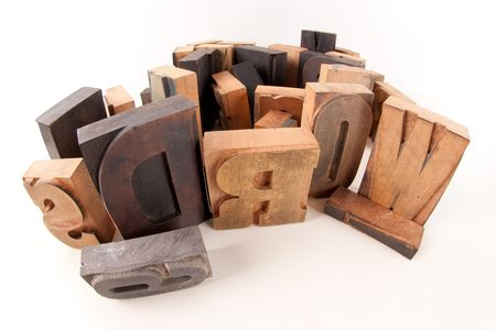 typescript:   Words written among wooden typescript letters   Stock Photo
