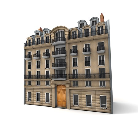 3D rendering of a typically Parisian building Stock Photo - 6978349