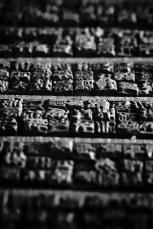 typescript:  Collection of old Chinese wooden typescript letters