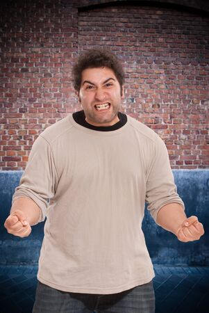 amok:   Aggressive young man on the street