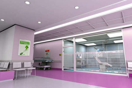 3D rendering of an upscale modern clinic  Stock Photo - 9664749