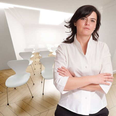 Attractive professional woman in a conference room Stock Photo - 9676604