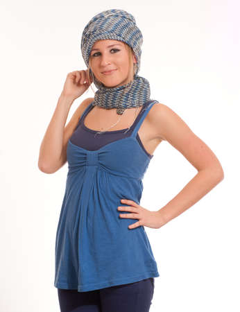 Portrait of a cute female teenager with a head scarf Stock Photo - 9947860