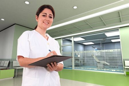 Female medical professional in a modern clinic Stock Photo - 9939809