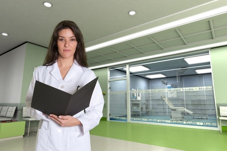 admissions:  Female medical professional in a modern clinic