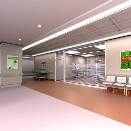 3D rendering of an upscale modern clinic  photo