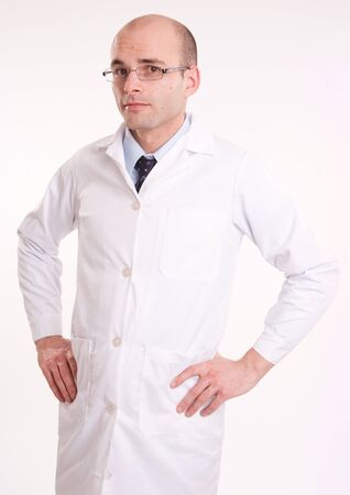 Man in lab coat with a neutral background   Stock Photo - 10645267