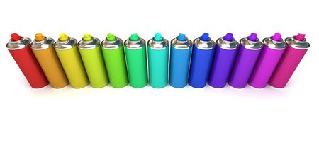 differently:  Aluminum spray cans in differently colors