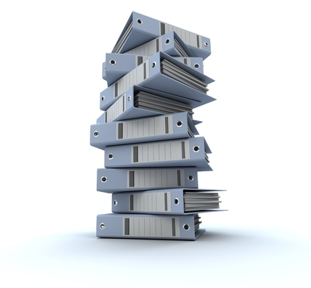 3D rendering of a pile of office ring binders Stock Photo - 13148378