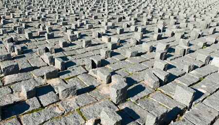 differently: differently arranged paving stones