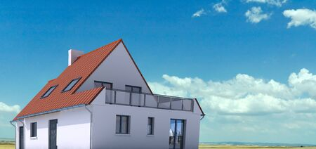 3D architecture model of a house on a real environment Stock Photo - 13253551