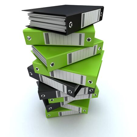 3D rendering of a pile of office ring binders Stock Photo - 13253506