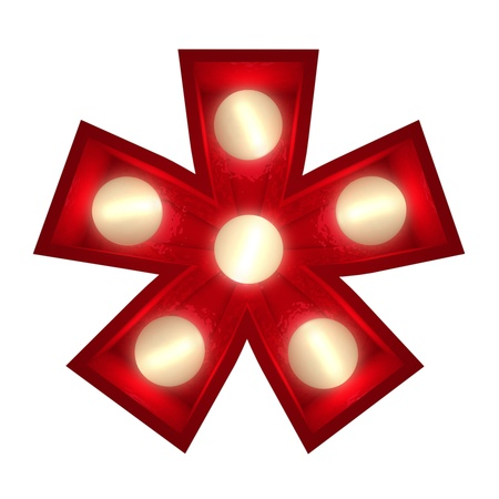 asterisk: 3D rendering of a glowing asterisk
