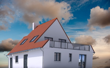 3D architecture model of a house on a real environment Stock Photo - 13441832