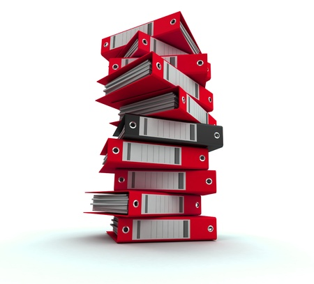 3D rendering of a pile of office ring binders Stock Photo - 13441553