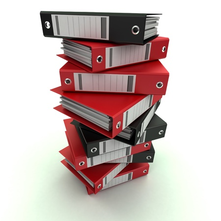 3D rendering of a pile of office ring binders Stock Photo - 13569969