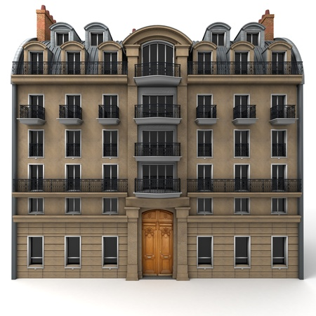 3D rendering of a typically Parisian building Imagens