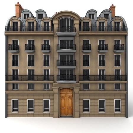 Rendu 3D d'un immeuble typiquement parisien