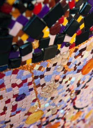 close shot: Close up shot on a mosaic Stock Photo