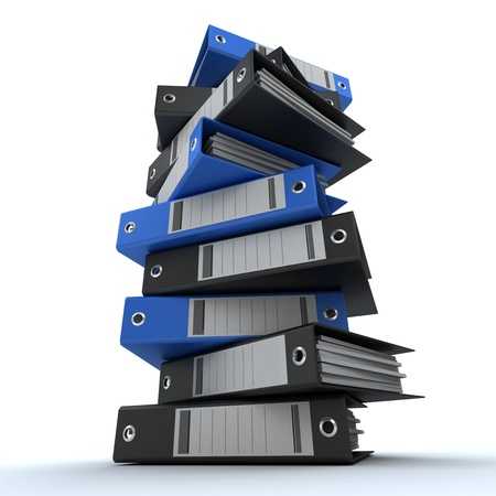 3D rendering of a pile of office ring binders Stock Photo - 13672621