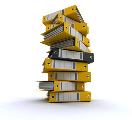 3D rendering of a pile of office ring binders Stock Photo - 13753335