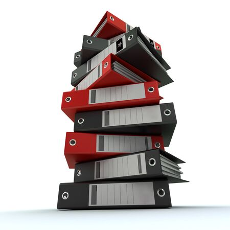3D rendering of a pile of office ring binders Stock Photo - 13768168