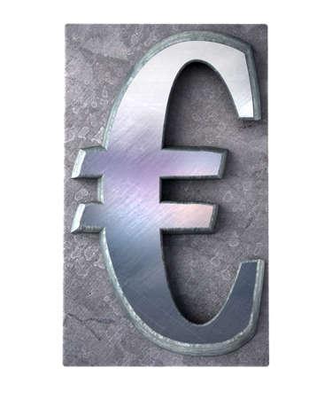 typescript:  3D rendering of the dollar currency symbol in metallic typescript print