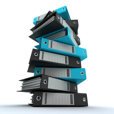 3D rendering of a pile of office ring binders Stock Photo - 13800630