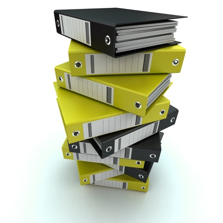 3D rendering of a pile of office ring binders Stock Photo - 14041591
