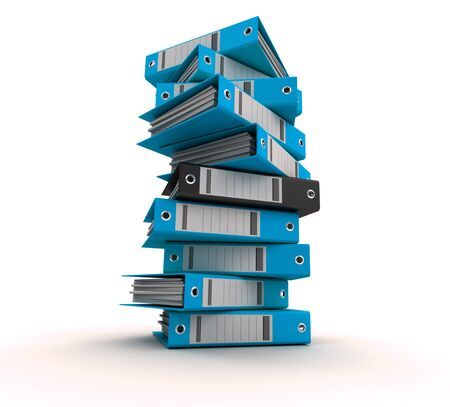 3D rendering of a pile of office ring binders Stock Photo - 14540713