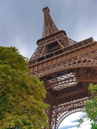 View of the Eiffel tower photo