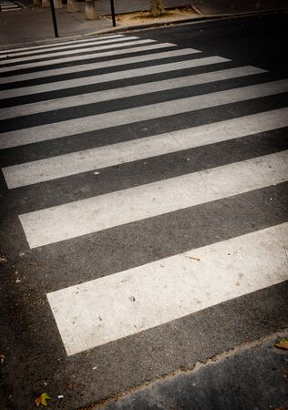 Pedestrian crossing close-up photo