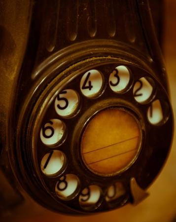 fixed line: Cierre de tiro de un tel�fono antiguo