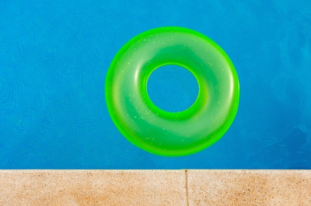 floater: Bright yellow floater in the middle of the pool