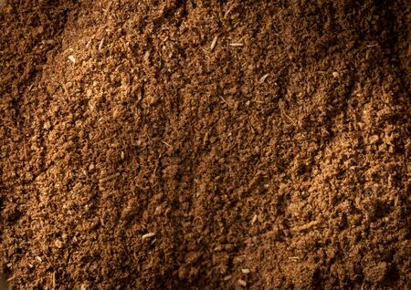Macro shot on ground garam masala spice mix photo