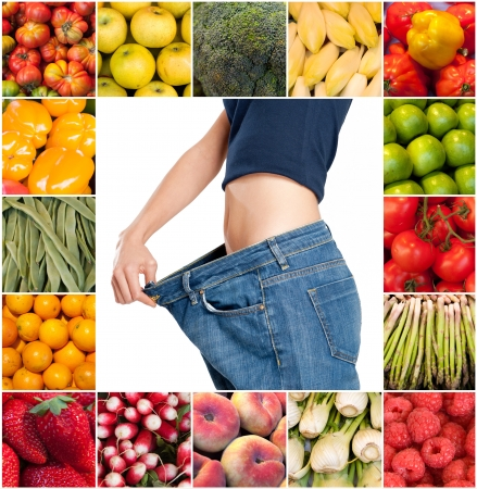 Successful and healthy diet composition Stock Photo - 15427109