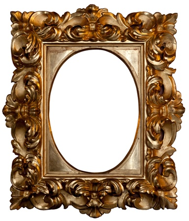 Beautiful rounded gilded frame   photo